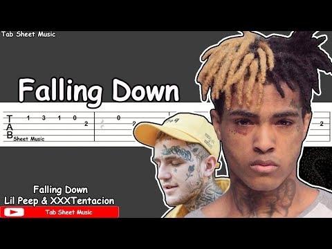Lil Peep & XXXTentacion - Falling Down Guitar Tutorial