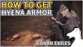 How to get Hyena Armor Set Recipe   CONAN EXILES