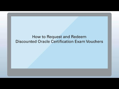 How to Request and Redeem Discounted Oracle Certification Exam ...