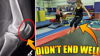 MY MOM CAME TO THE TRAMPOLINE PARK... TEACHING MY MOM HOW TO FLIP (OR TRYING TO...)