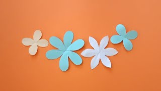 How to make 4 petal and 6 petal flower || How to draw and cut paper flower