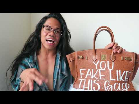 Hermes Birkin Dupe & Tagging up your bags