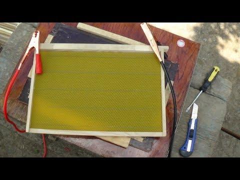 Быстрое наващивание вощины 12 V на пасеке