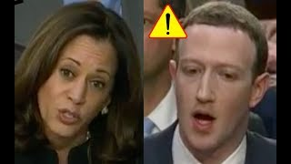 Kamala Harris Makes Mark Zuckerberg STUTTER! He Plays Dumb on Tracking People and Facebook COVER UP!