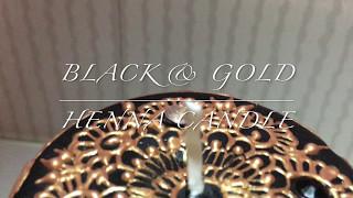 Black & Gold Henna Candle || Tutorial || Aysha's Mehndi