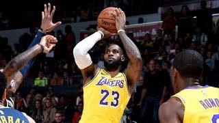 LeBron James Lakers Debut Preseason vs Nuggets! 2018-19 NBA