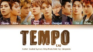 Gambar cover EXO (엑소) - TEMPO (템포) LYRICS (Color Coded Eng/Rom/Han/가사)