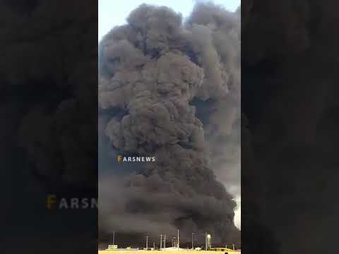 إيران : حريق هائل في مصنع كيماويات