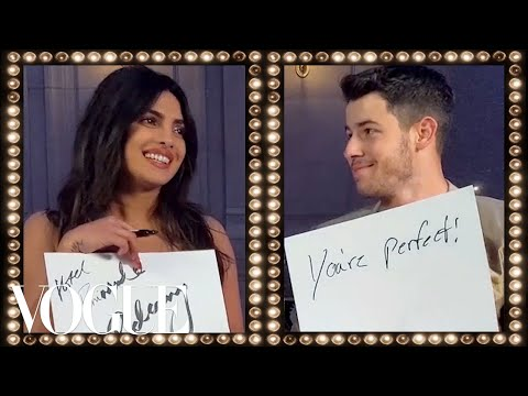 Priyanka Chopra and Nick Jonas Play the Newlywed Game | Vogue (видео)