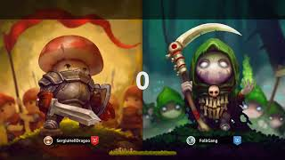 Mushroom Wars 2 - 1v1 CRUSHING THE GOLDEN PLAYERS | Ranked Multipalyer