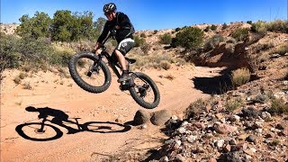 A sample of a huge trail system in this area. A fat bike is the best tool for these trails.