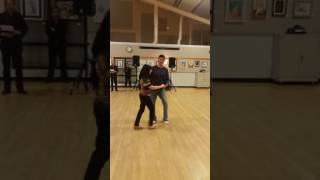 Central Jersey Dance Society No Name dance Hustle lesson with Tybaldt Ulrich 4-15-17