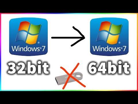 Cài Win 7 32bit lên 64bit