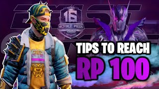 How To Reach RP 100 Fast   How To Complete RP 100 Without Spending Extra UC   PUBG Mobile