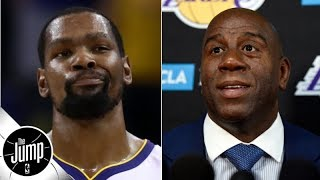 Kevin Durant tweeted (and deleted) a response to Magic Johnson's First Take comments | The Jump