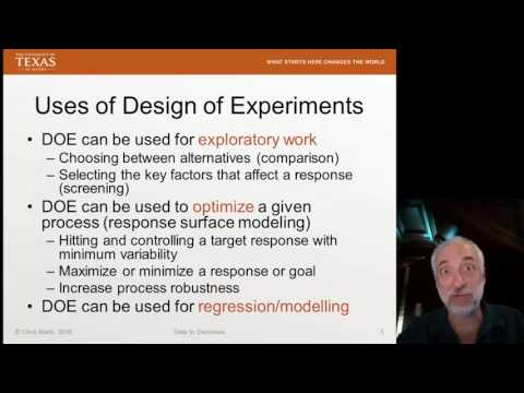 Lecture64 (Data2Decision) Intro to Design of Experiments