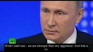 "Putin schools Wall Street Journal - ""We didn't start this"""