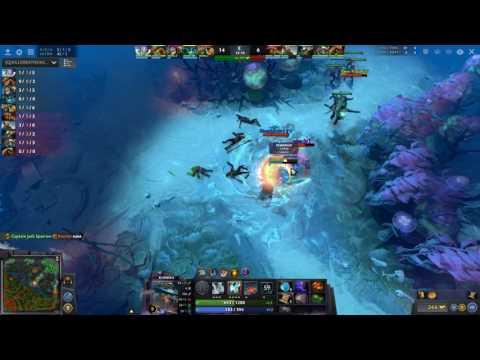 Dota 2 | OD, Slark and CM gank a Kunkka 12minutes in