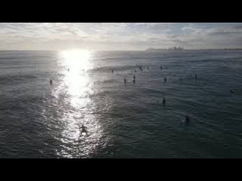 The Bluff drone shot of surf lineup