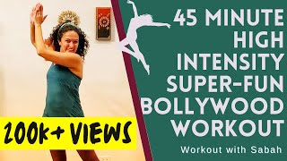 45 Minute At-home Bollywood High Intensity Dance Fitness Workout   Burns upto 🔥 600 calories