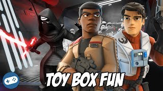 Star Wars The Last Jedi Disney Infinity Toy Box Fun Gameplay Part 2