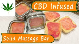 HempCBD Infused Lotion Bar ~ Ginger & Geranium Massage Oil With Infused Isolate