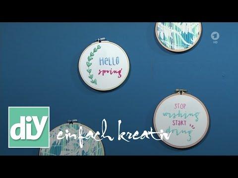 Lettering im Stickrahmen | DIY einfach kreativ
