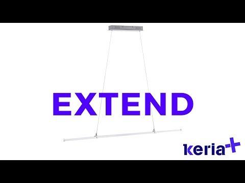 KERIA LUMINAIRES _ Vidéo suspension Led extensible EXTEND