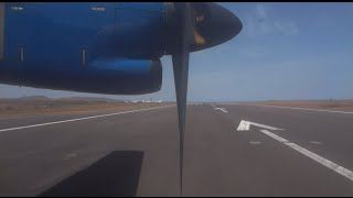 preview picture of video 'TACV Take Off Praia International Airport - Santiago Cabo Verde / Kaapverdië [HD]'