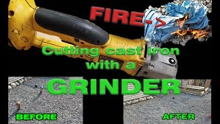 How to Cut Cast Iron pipe with a angle grinder