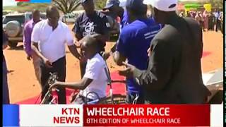 Isiolo governor Mohamed Kuti closes the 8th edition of wheel chair race which aims at funding PWD