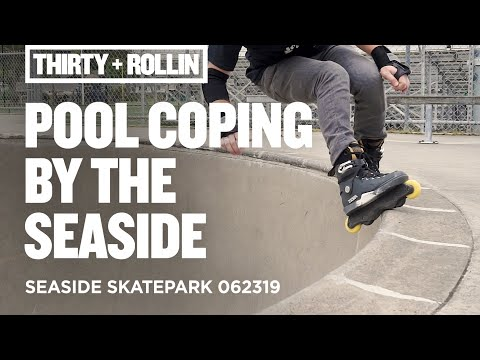 Pool coping by the seaside. | Seaside Skatepark 062319 | Aggressive Inline Skating