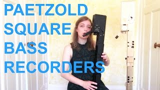 PAETZOLD SQUARE BASS RECORDERS   Team Recorder