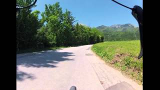 preview picture of video 'Road bike ride timelapse - Gorenjska, Slovenia - original version'