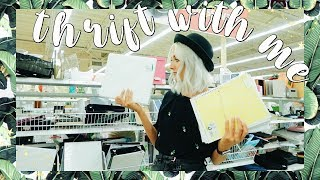Come Thrift With Me | Thrifting School Supplies + The BEST Try On Thrift Haul EVER