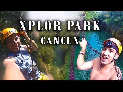 Xplor Park, Cancun Mexico 2016.. Ziplines, Jungle, Caves and more!