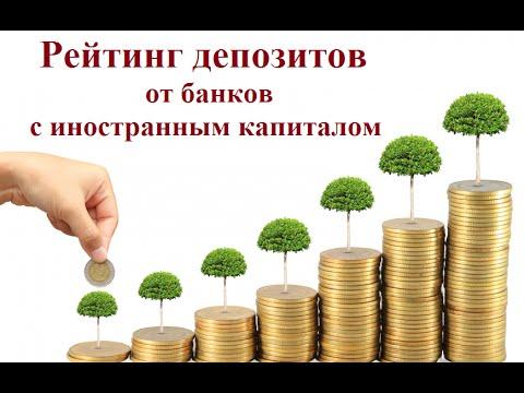 Рейтинг депозитов от банков с иностранным капиталом