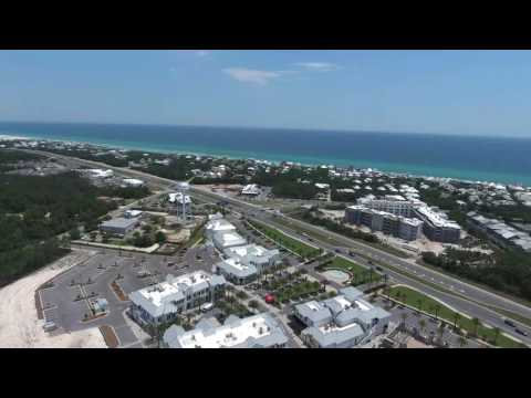 Aerial View of 30A East Inlet Beach, Rosemary Beach, Seacrest Beach