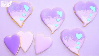 How To Decorate HEART Cookies TIPLESS With ROYAL ICING For Beginners | Fawaii 💜