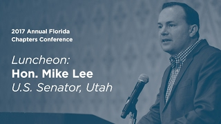 Click to play: Address by Senator Mike Lee - Event Audio/Video