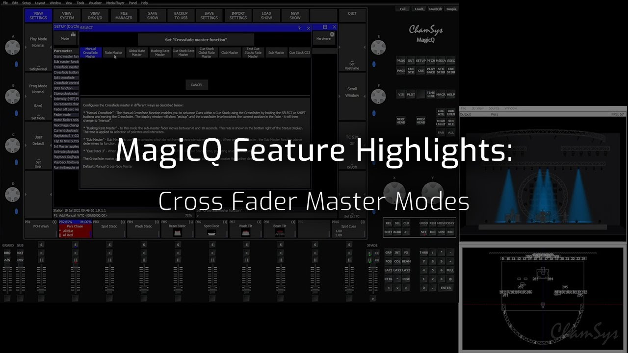 Cross Fade Master Modes