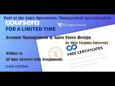 Account Management & Sales Force Design, week (1-4) All Quiz ...