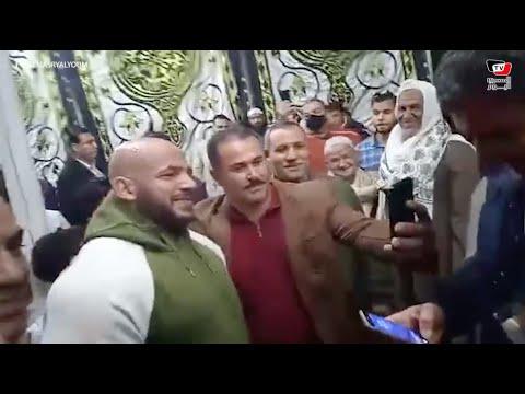 استقبال حافل لبيج رامي من أهالي قريته السبايعه بالبرلس بكفر الشيخ