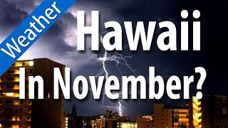 How is the weather in hawaii in november