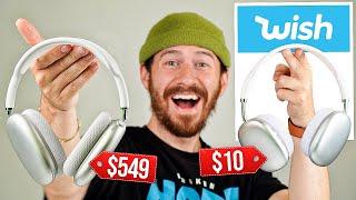 $10 FAKE AirPods Max Vs. $549 AirPods Max!! (WISH AirPods Max)