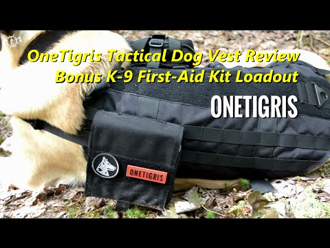 OneTigris Tactical Dog Vest Review Plus K-9 First-Aid Kit Loadout