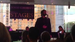 Josh Groban Somewhere Over The Rainbow Columbus Circle NYC 04282015