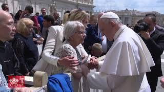 Möte mellan påven Franciskus och Elise Lindqvist