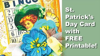 Vintage St. Patrick's Day Card Tutorial with Free Printable