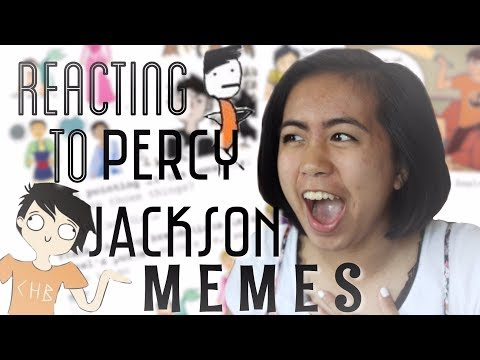 REACTING TO PERCY JACKSON MEMES